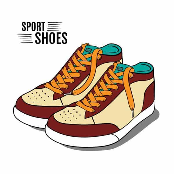 系鞋带的logo