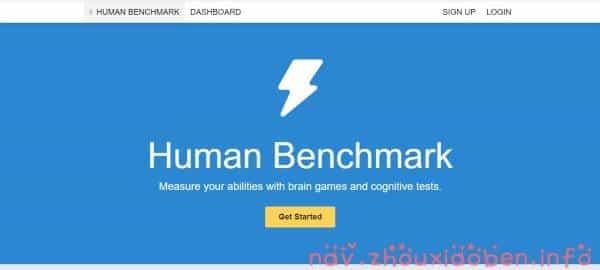 Human Benchmark的截图