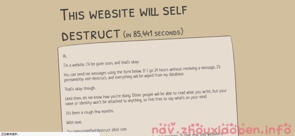 自我销毁网站的截图